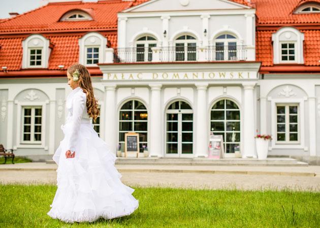 Przyjęcie komunijne w Pałacu Domaniowskim